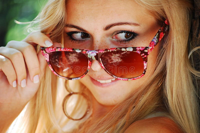 Download Blond Girl In Glasses Royalty Free Stock Images - Image: 21289899