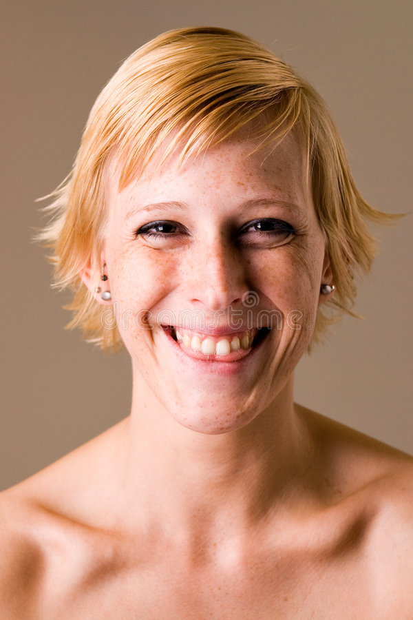 Download Blond Girl With Short Hair Making Fun Stock Photo - Image: 5919950
