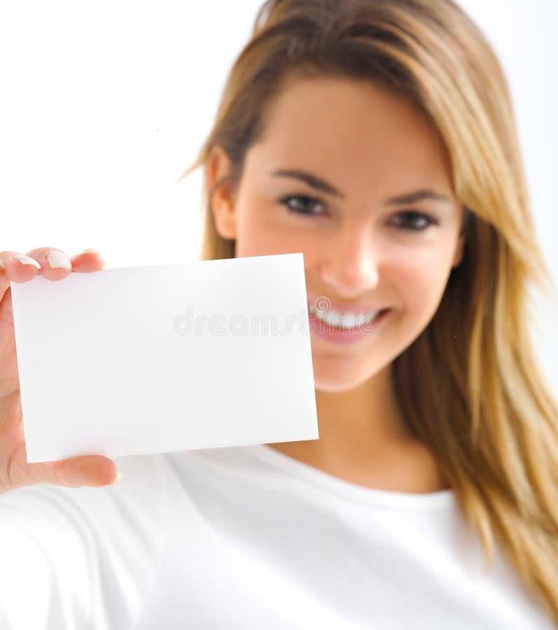 Blond girl smiling royalty free stock image