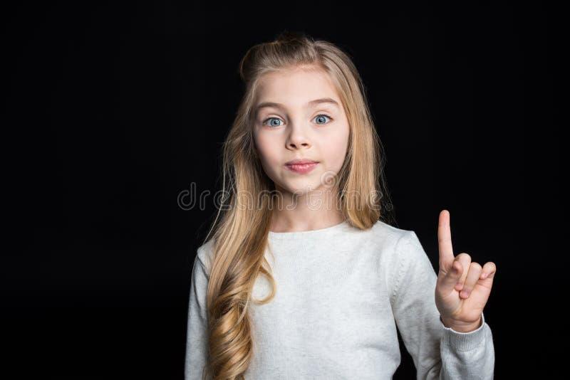 blond gullig flicka arkivfoton