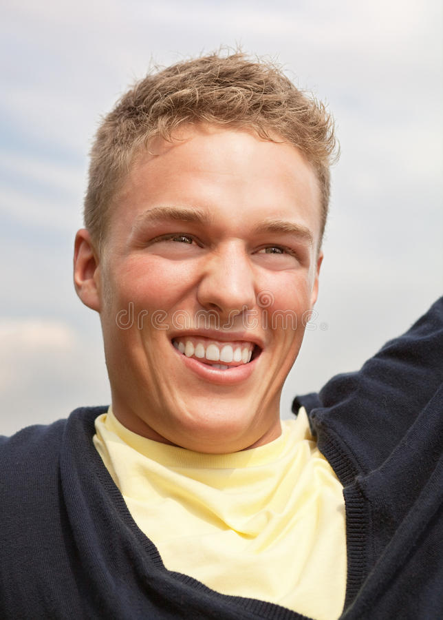 Download Blond guy stock image. Image of outdoors, happy, young - 11255113