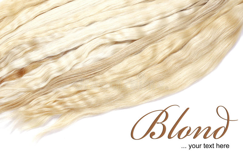 Blond hair royalty free illustration
