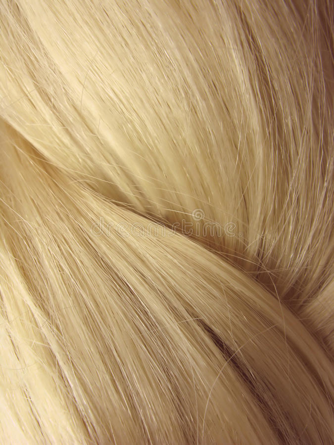 Blond hair abstract texture background stock photo