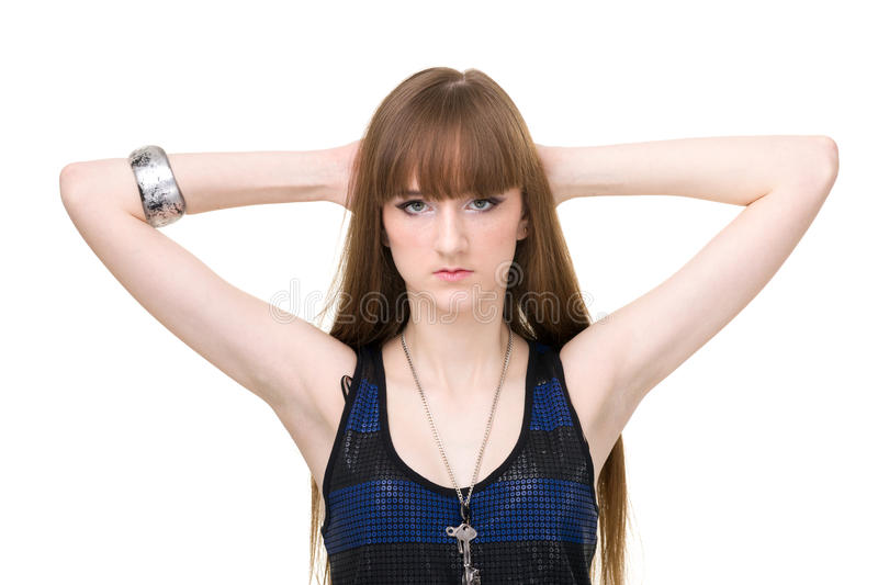 Download Beautiful Woman With Straight Long Hair Stock Photo - Image: 29958142