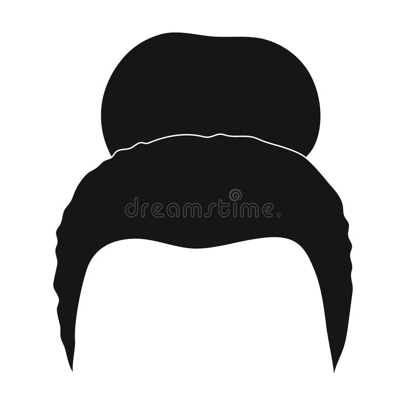 Blond hair with a shingle.Back hairstyle single icon in black style vector symbol stock illustration web. Blond hair with a shingle.Back hairstyle single icon royalty free illustration