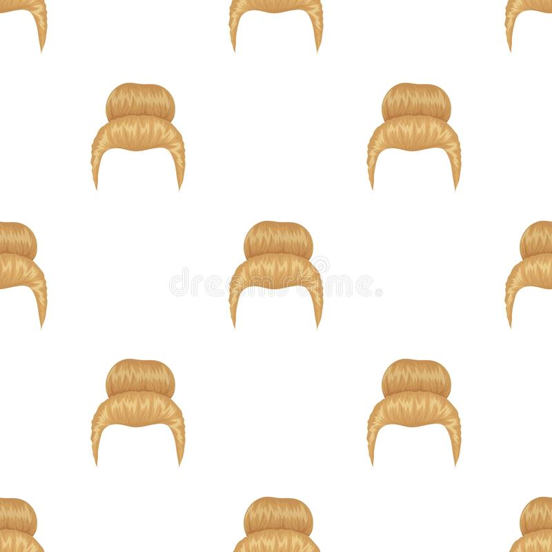Blond hair with a shingle.Back hairstyle single icon in cartoon style vector symbol stock illustration web. Blond hair with a shingle.Back hairstyle single icon royalty free illustration