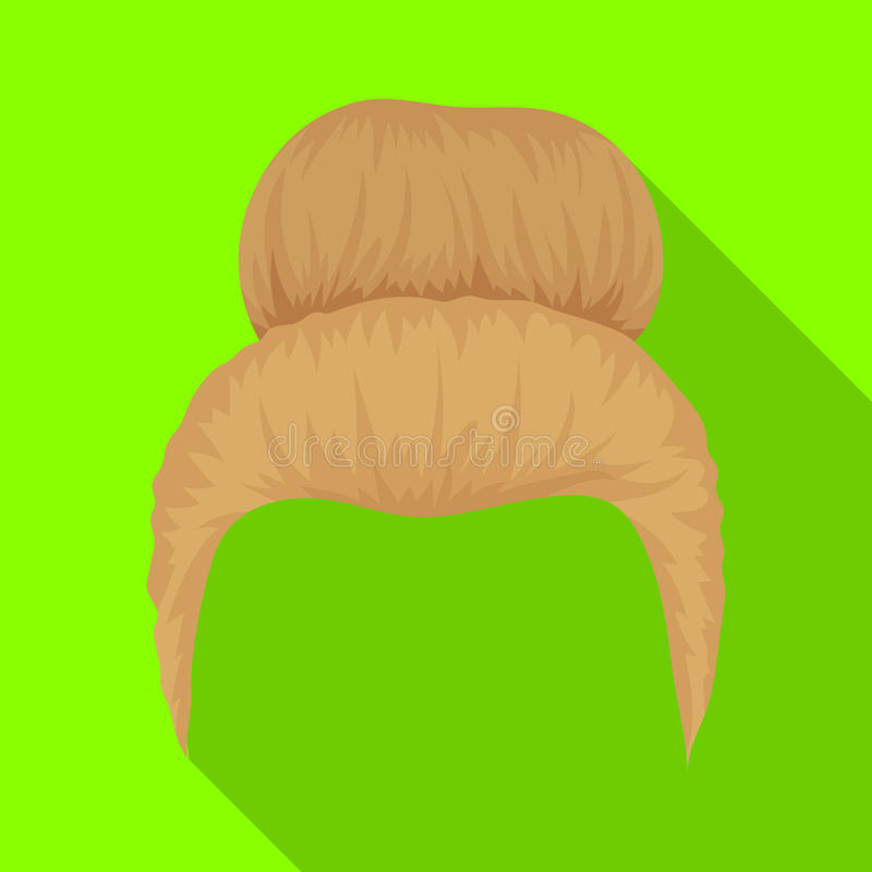 Blond hair with a shingle.Back hairstyle single icon in flat style vector symbol stock illustration web. Blond hair with a shingle.Back hairstyle single icon in vector illustration