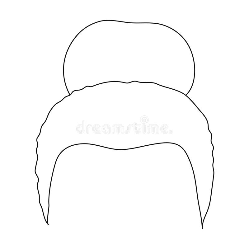 Blond hair with a shingle.Back hairstyle single icon in outline style vector symbol stock illustration web. Blond hair with a shingle.Back hairstyle single icon stock illustration