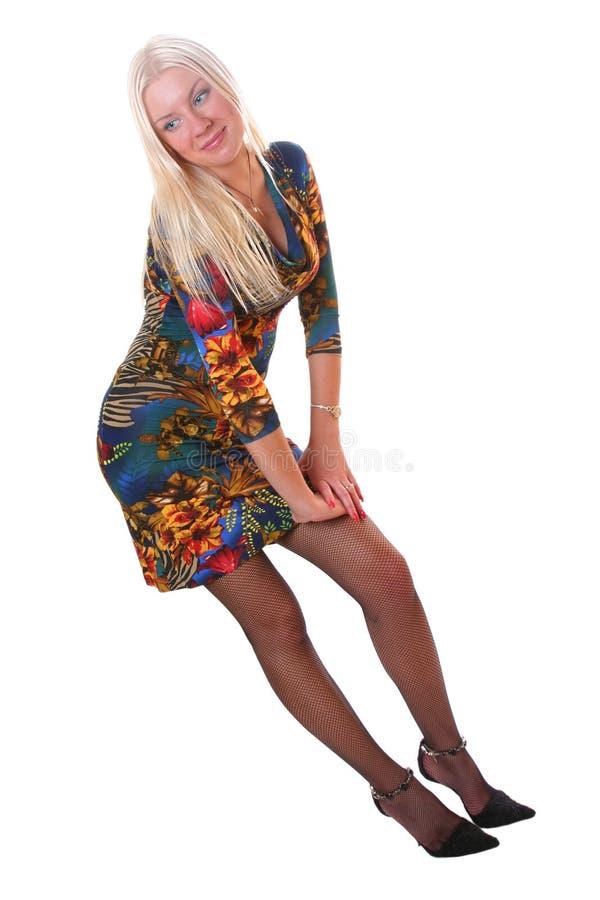 Blond-haired blauäugiges Mädchen lizenzfreie stockbilder