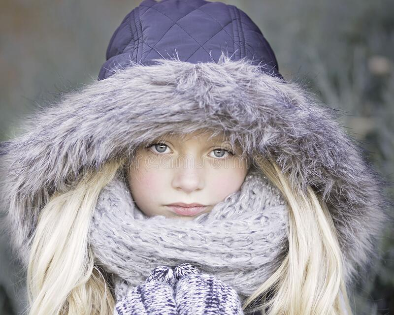 Blond Haired Girl In Purple Winter Jacket Free Public Domain Cc0 Image