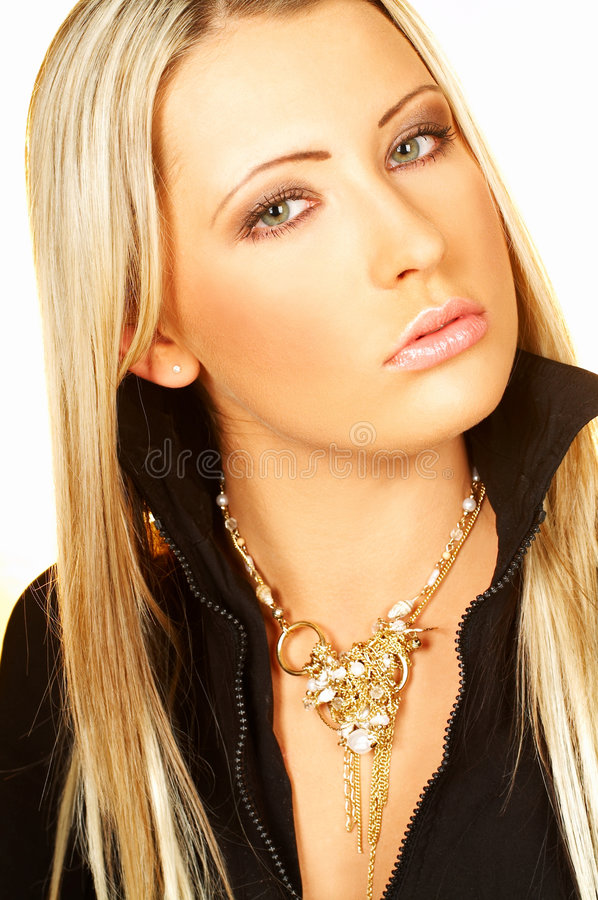Download Blond haired young woman stock photo. Image of adult, caucasian - 614004