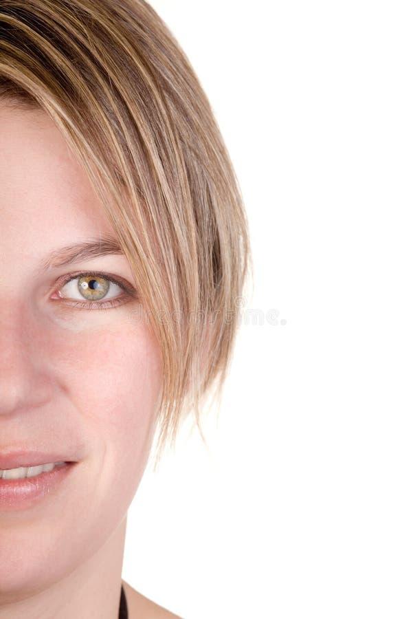 blond half stående royaltyfria bilder