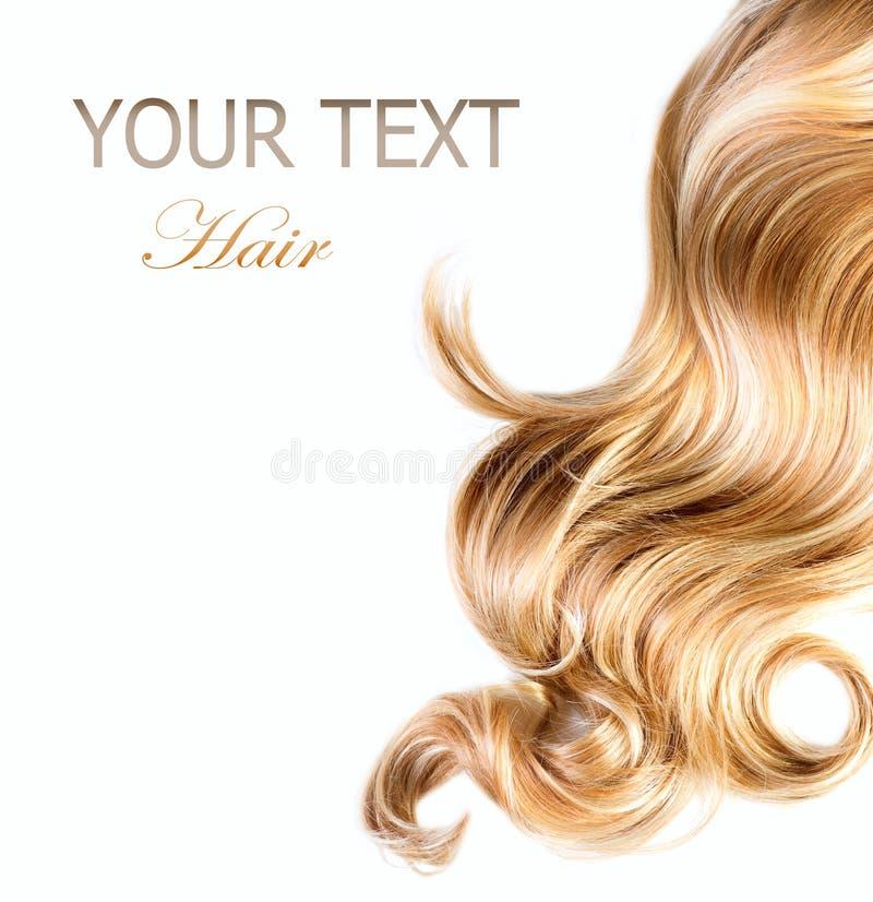 blond kędzierzawy włosy fotografia royalty free