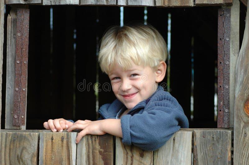 Blond kind stock afbeelding