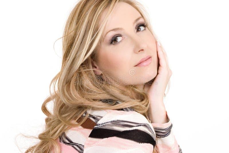 blond kobiet atrakcyjne młode zdjęcie stock