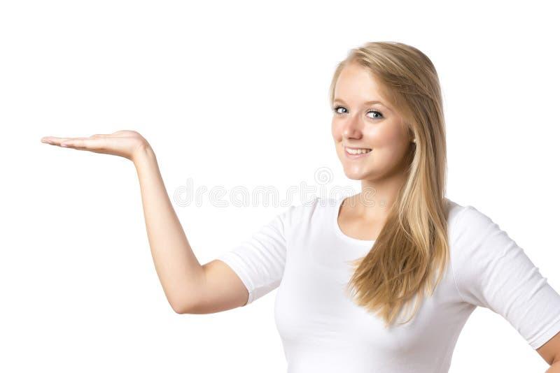 Blond kobiety przedstawiać obraz stock