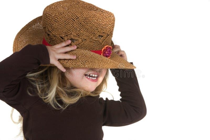 blond kowbojka dziewczyny kapelusz obrazy royalty free