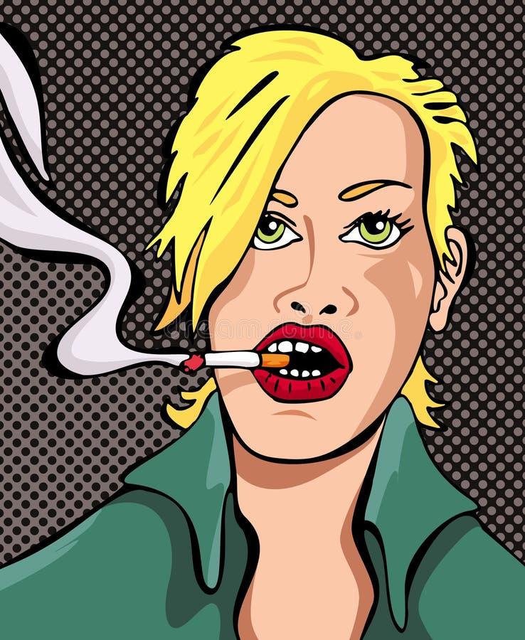 Blond kvinna 02 royaltyfria foton