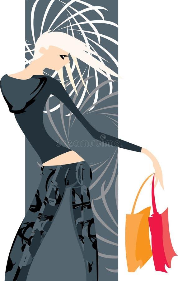 blond kvinna stock illustrationer