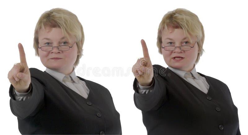 blond lärarinna royaltyfria foton