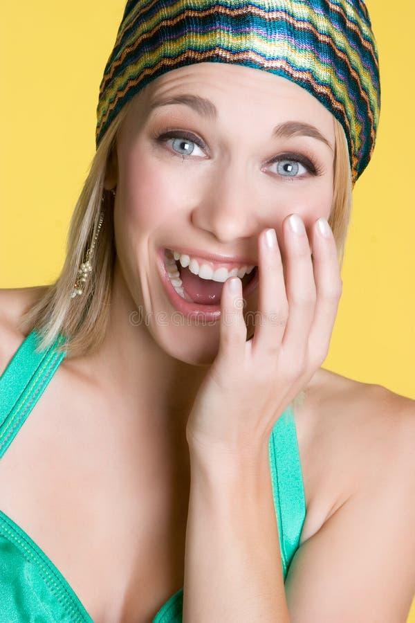 Blond lachen royalty-vrije stock fotografie