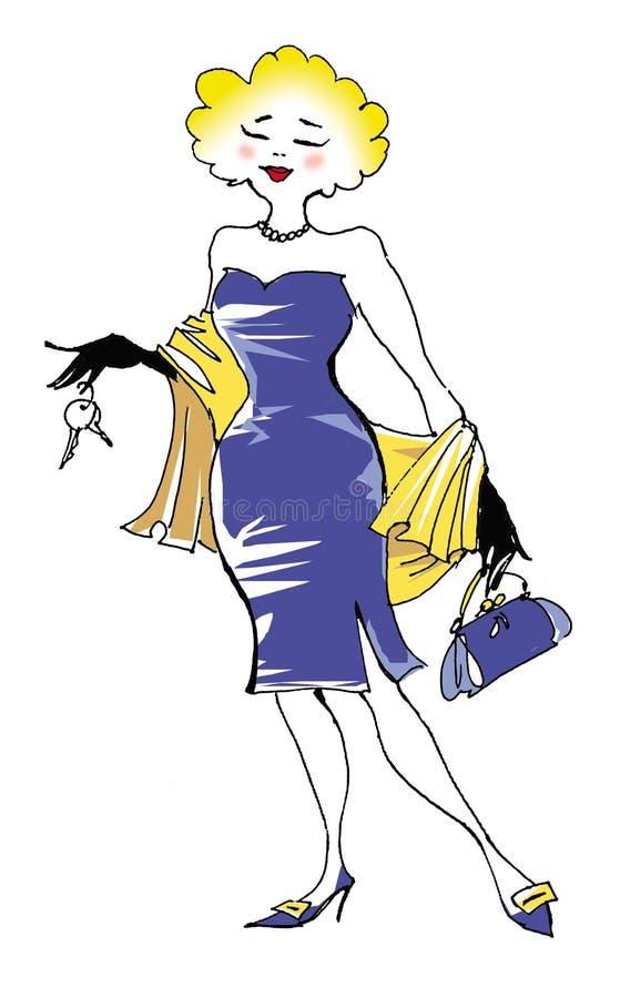 Blond lady vector illustration