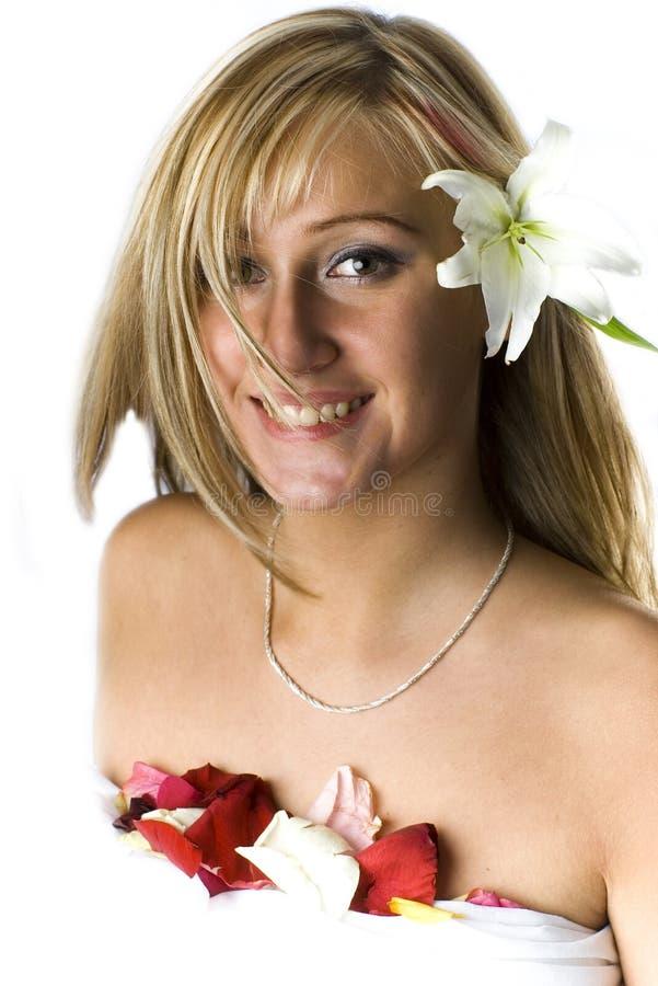 blond lily madonny obraz royalty free