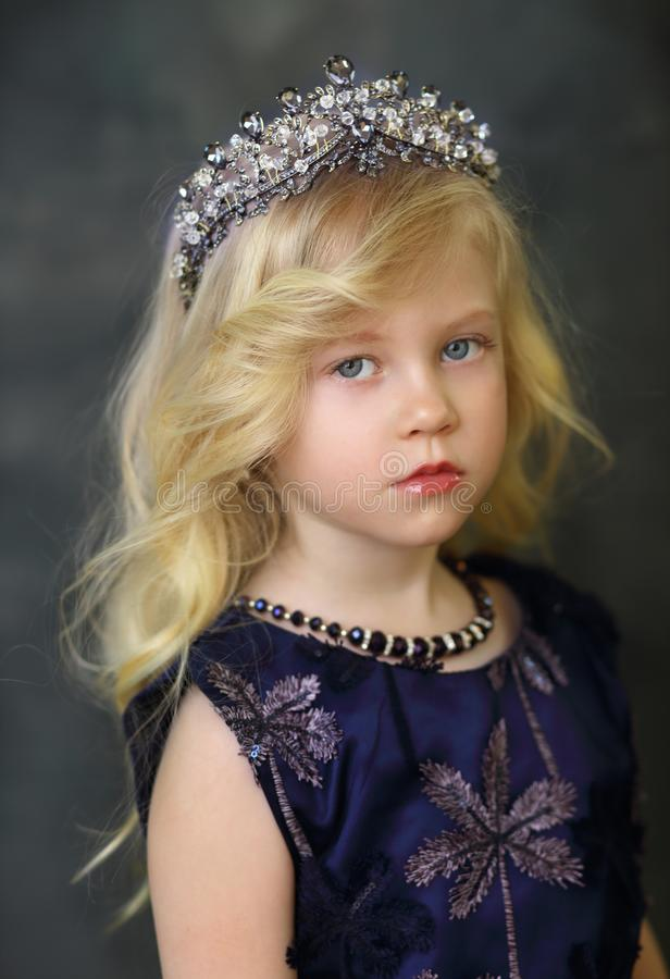 Blond Little Girl royalty free stock images