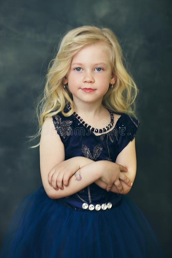 Blond Little Girl royalty free stock photo