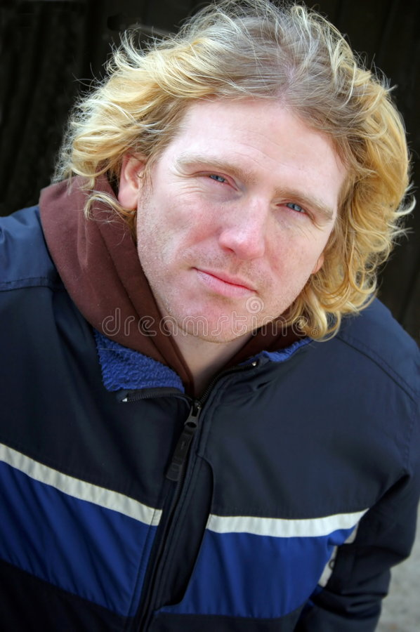 Download Blond man stock photo. Image of windy, looking, jacket - 464364