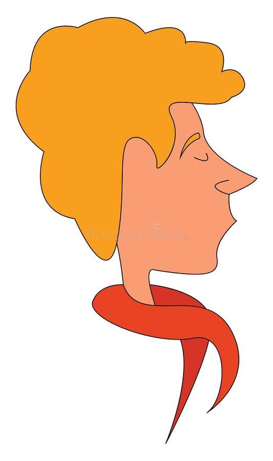 Blond Mann mit Schal lizenzfreie abbildung