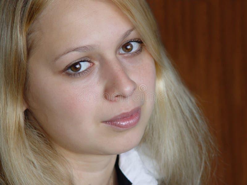 Blond meisje stock afbeelding