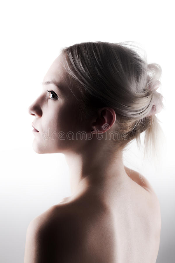Blond meisjesportret royalty-vrije stock afbeeldingen