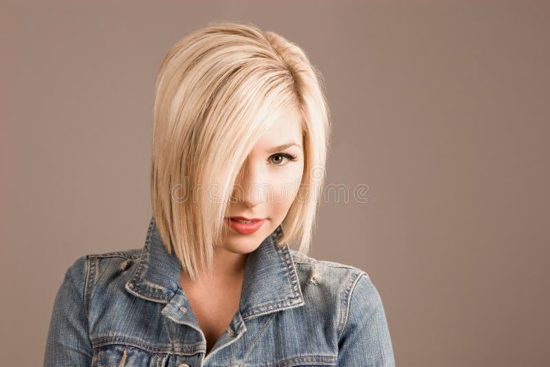 blond moda model obraz stock