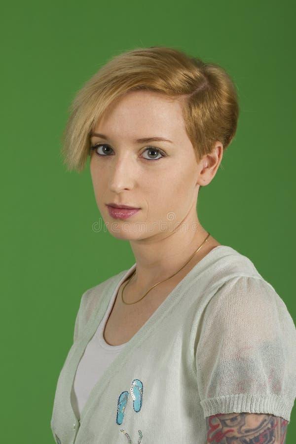 Blond model royalty-vrije stock fotografie