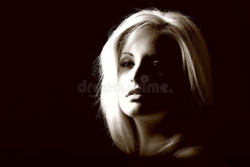 blond model sexig kvinna royaltyfri foto