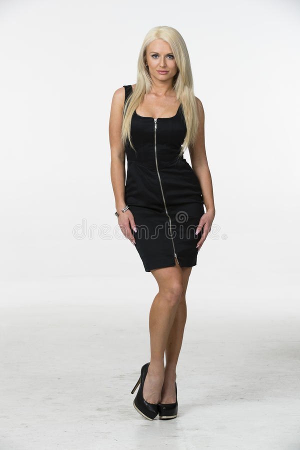 blond model studio arkivbild