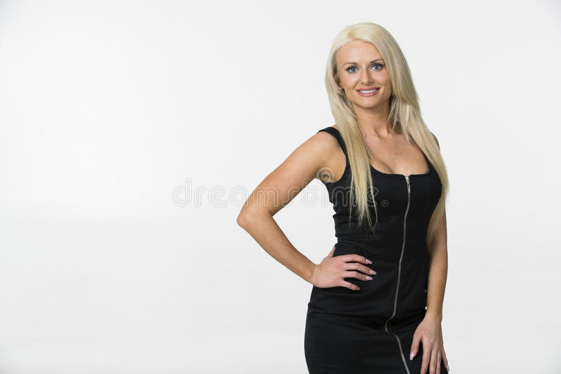 blond model studio royaltyfri fotografi