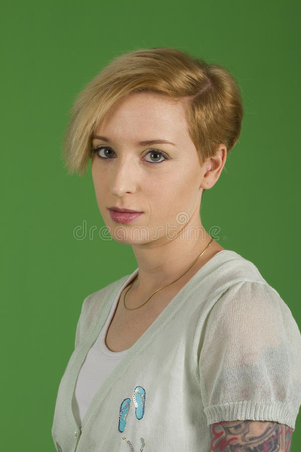 blond modell royaltyfri fotografi