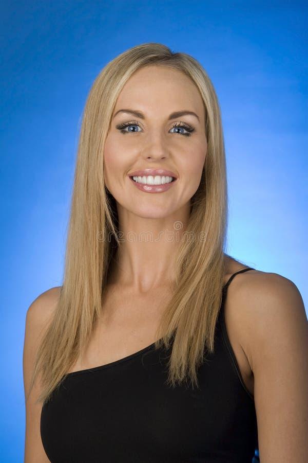 blond modemodell royaltyfri foto