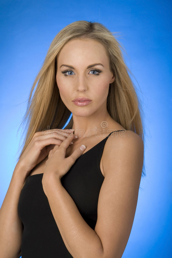 blond modemodell fotografering för bildbyråer