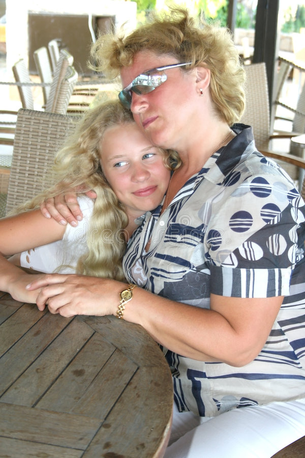 Download Blond mother and daughter stock photo. Image of girl, relation - 7660914