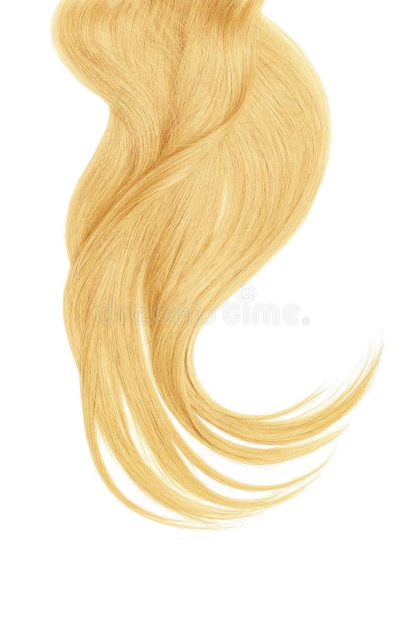Blond natural hair isolated on a white background. Natural healthy hair isolated on white background. Detailed clipart for your collages and illustrations stock images