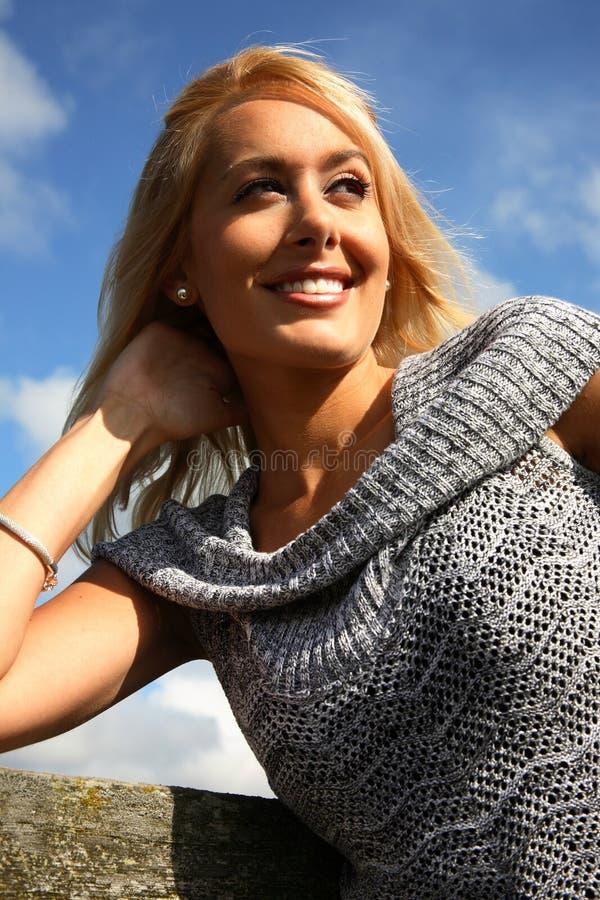 blond portret kobiety fotografia royalty free