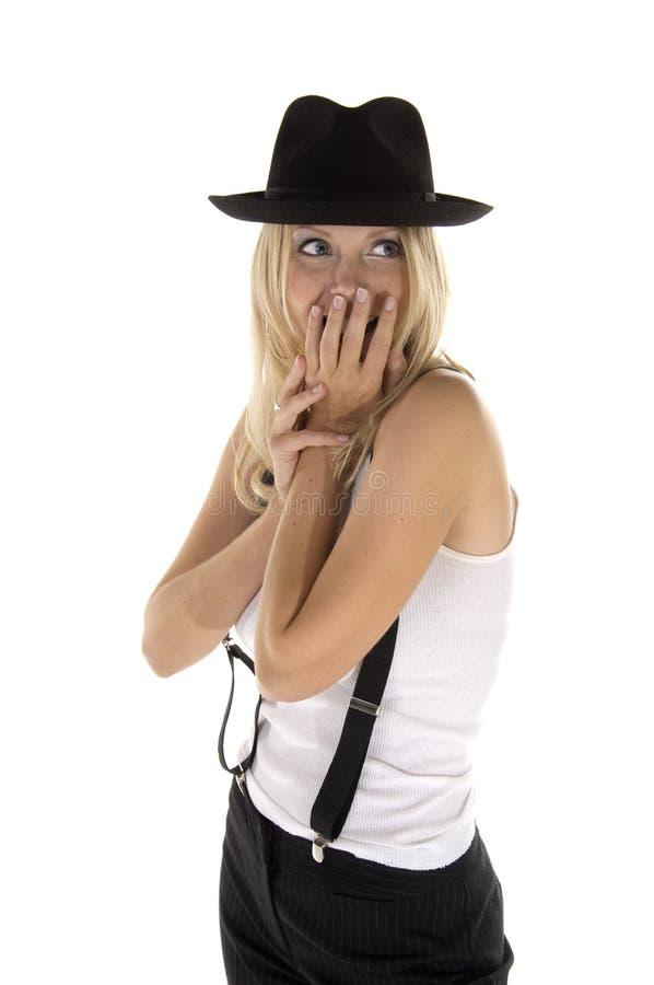 blond retro kvinna arkivfoto