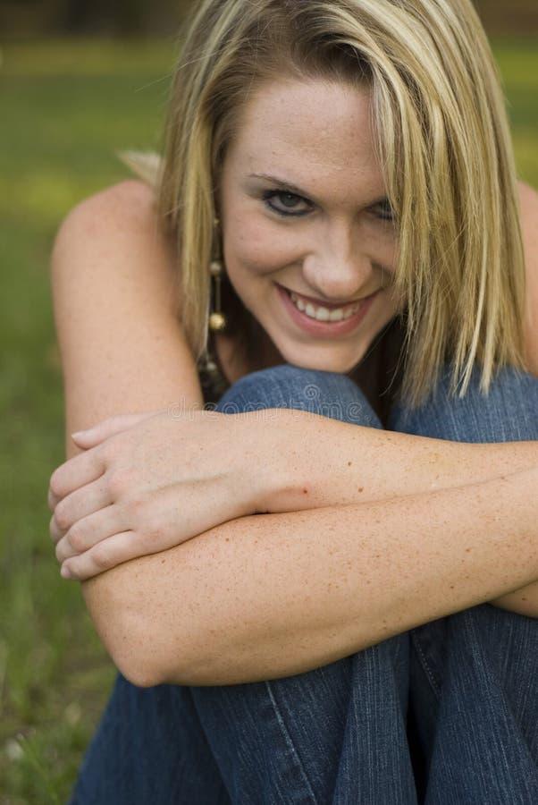 blond słodki uśmiech obrazy royalty free