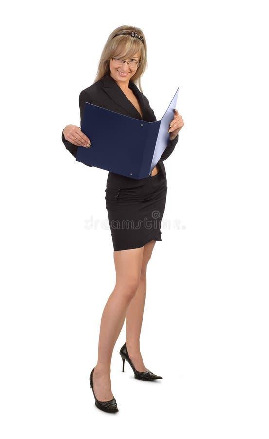 Blond sekreterare arkivfoton