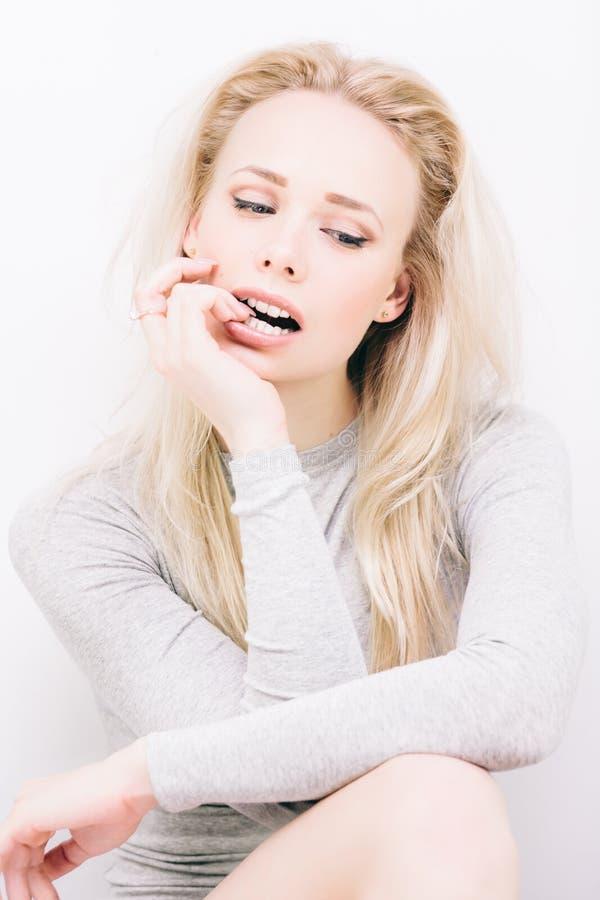 Blond sensuel photos stock