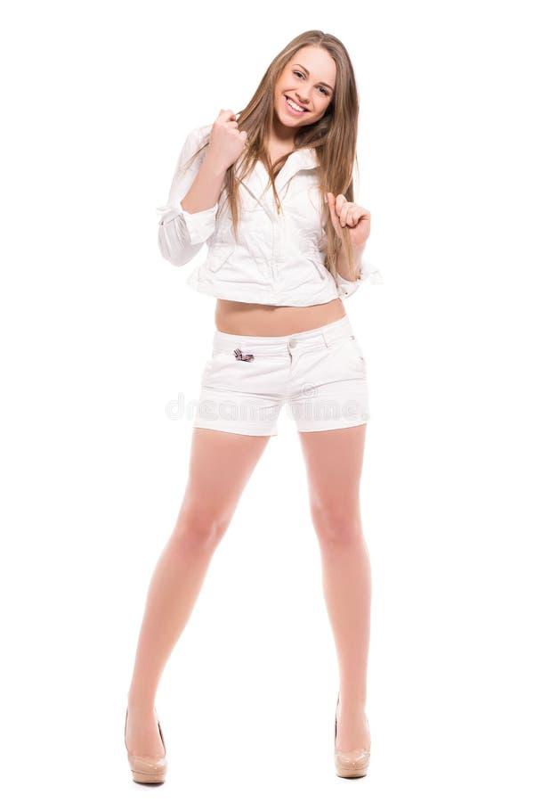 blond skratta kvinna fotografering för bildbyråer