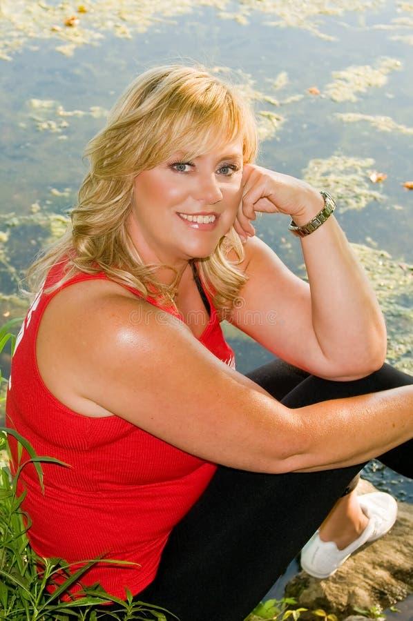 blond splendoru ładna kobieta fotografia stock
